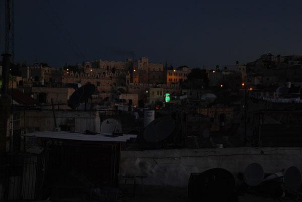 pierwsze spojrzenie na Jerozolimę zaraz po przyjeździe